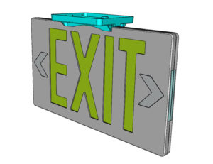 Jessup Glow-In-The-Dark Exit Sign